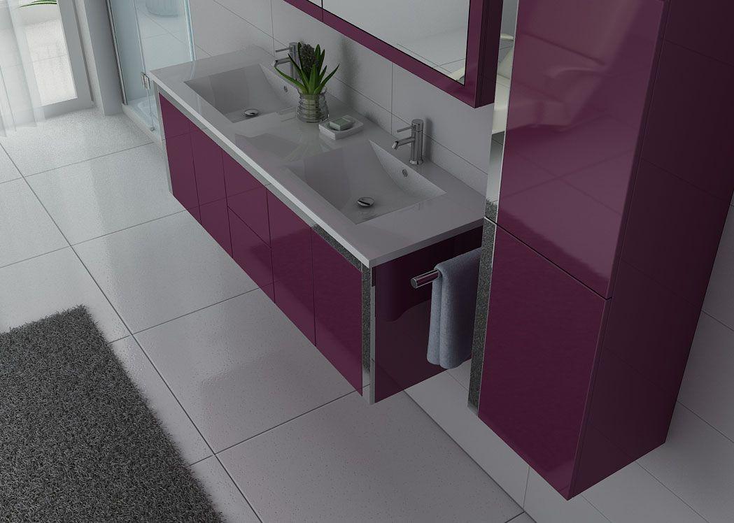 meuble de salle de bain couleur aubergine stunning meuble suspendu fluxus x cm vasque ronde. Black Bedroom Furniture Sets. Home Design Ideas
