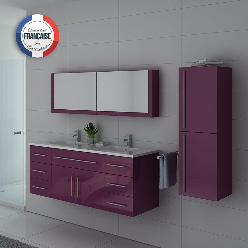 Meuble de salle de bain aubergine DIS749, meuble de salle de bain ...