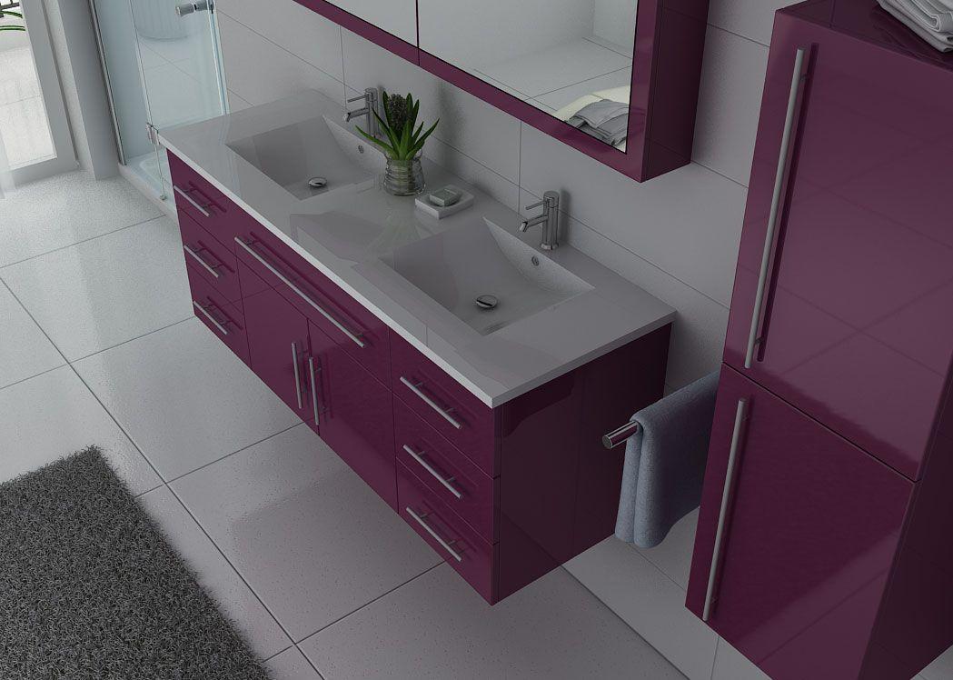 meuble de salle de bain aubergine dis749 meuble de salle de bain couleur aubergine. Black Bedroom Furniture Sets. Home Design Ideas