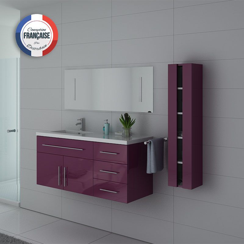 Meuble simple vasque URBAN couleur Aubergine