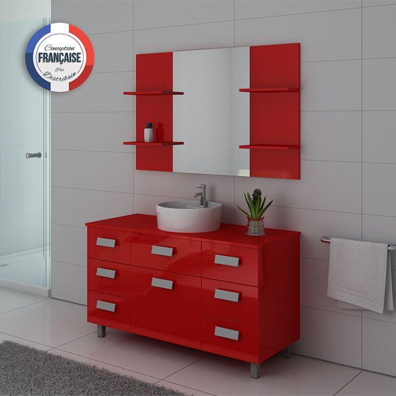 meuble de salle de bain 1 vasque 120 cm imperial meuble de salle de bain rouge distribain. Black Bedroom Furniture Sets. Home Design Ideas