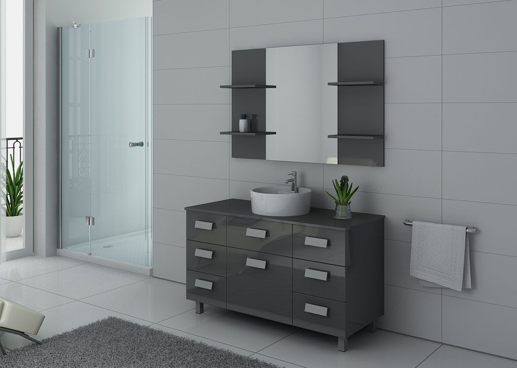 meuble de salle de bain gris imperial meuble de salle de. Black Bedroom Furniture Sets. Home Design Ideas