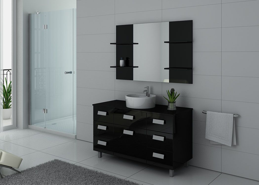 ensemble de salle de bain noir imperial meuble de salle. Black Bedroom Furniture Sets. Home Design Ideas