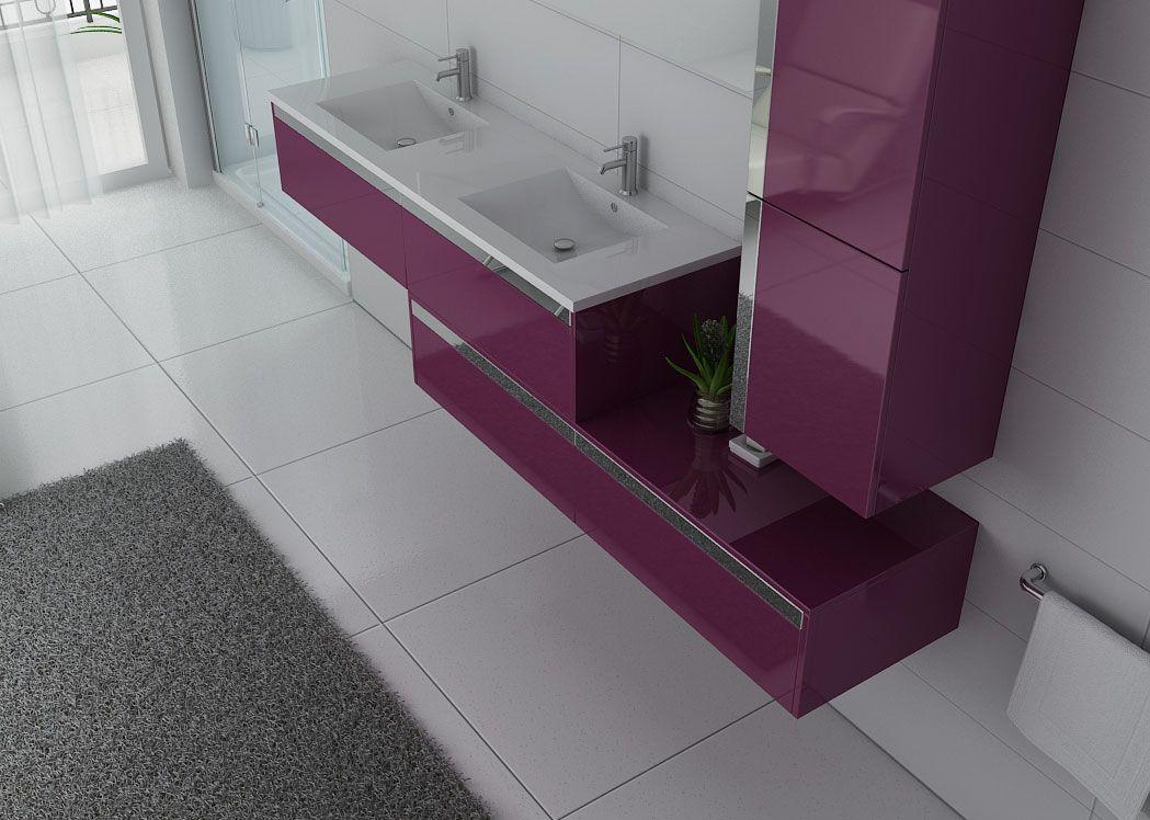 Meuble sous vasque original BELLISSIMO AU, meuble 2 vasques ...