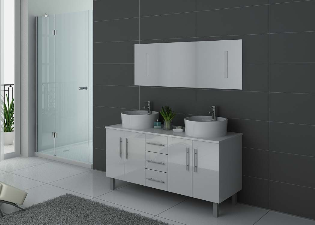 meuble de salle de bain 2 vasques blanc dis989b meuble de salle de bain 2 vasques 140 cm. Black Bedroom Furniture Sets. Home Design Ideas