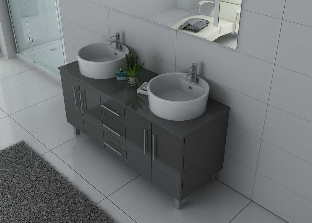 meuble de salle de bain gris double vasque meuble de