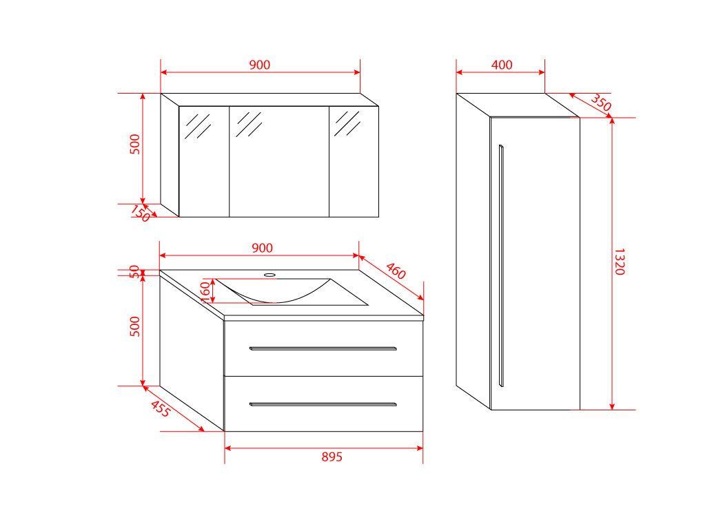 ensemble de meuble de salle de bain 90 cm nova meuble de salle de bain 1 vasque 90 cm distribain. Black Bedroom Furniture Sets. Home Design Ideas