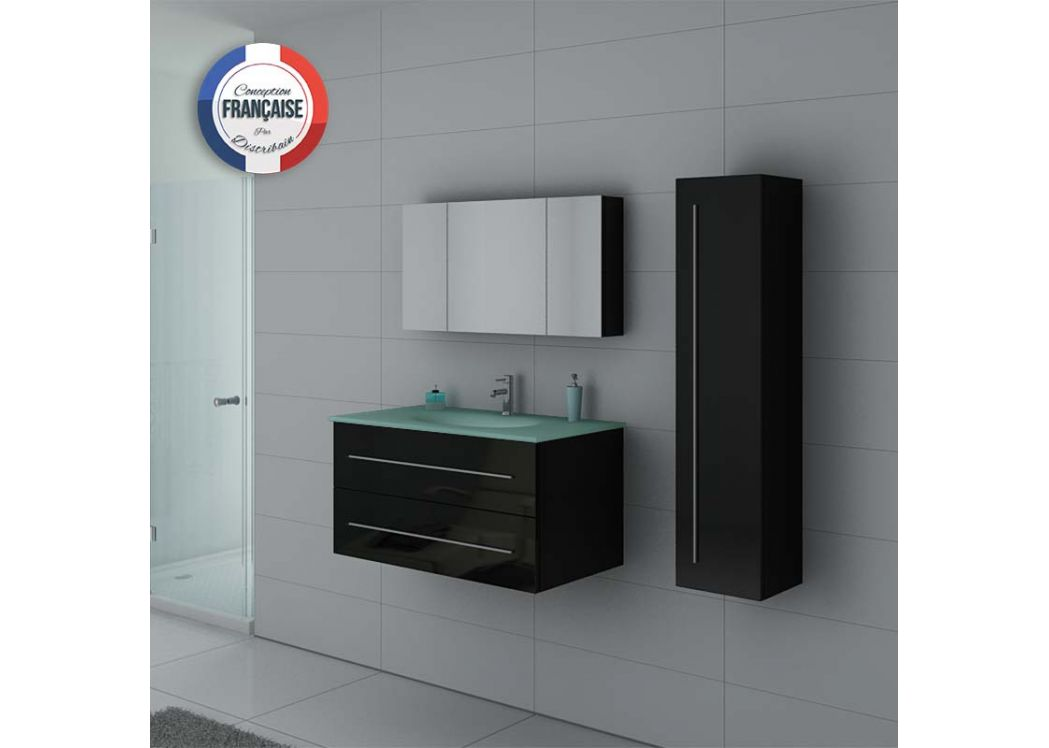 ensemble de salle de bain noir ensemble complet de salle de bain dis983n distribain. Black Bedroom Furniture Sets. Home Design Ideas