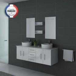 Meuble de salle de bain double vasque design, meuble double vasque ...