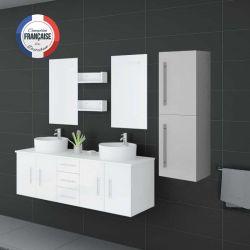 Colonne de rangement de salle de bain COL747B Blanc