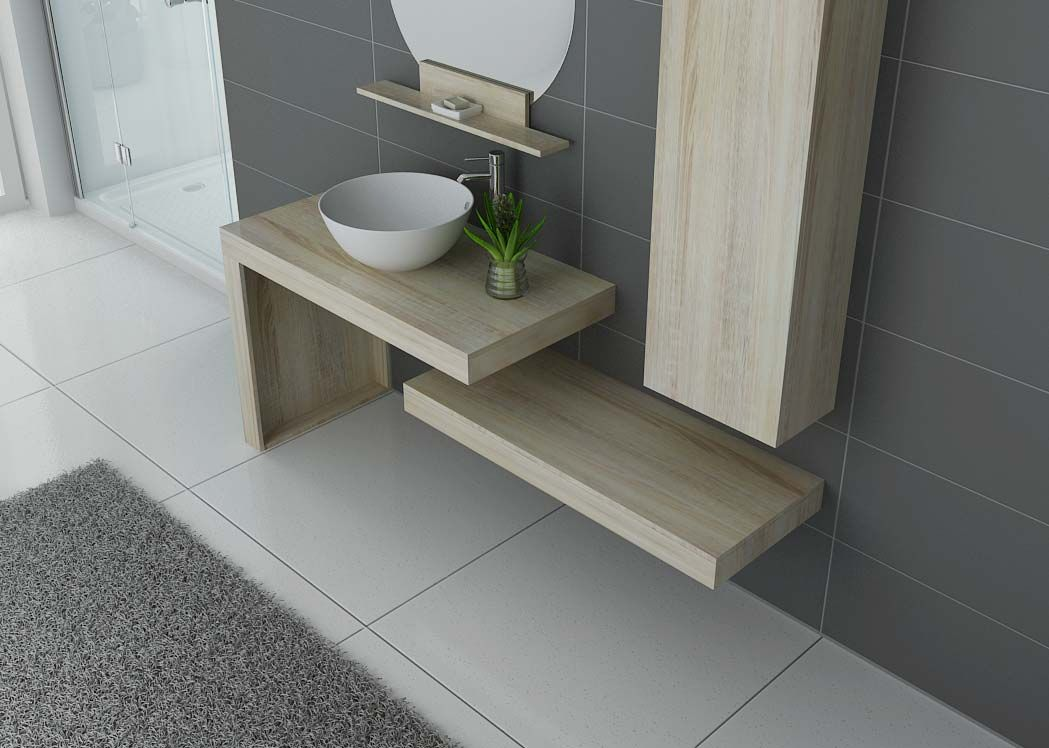 Ensemble de salle de bain design monza ensemble de meuble for Meuble vasque simple