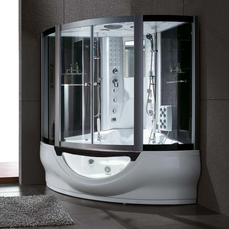 baignoire et douche combin florida bain et douche combin haut de gamme 163x163 distribain. Black Bedroom Furniture Sets. Home Design Ideas