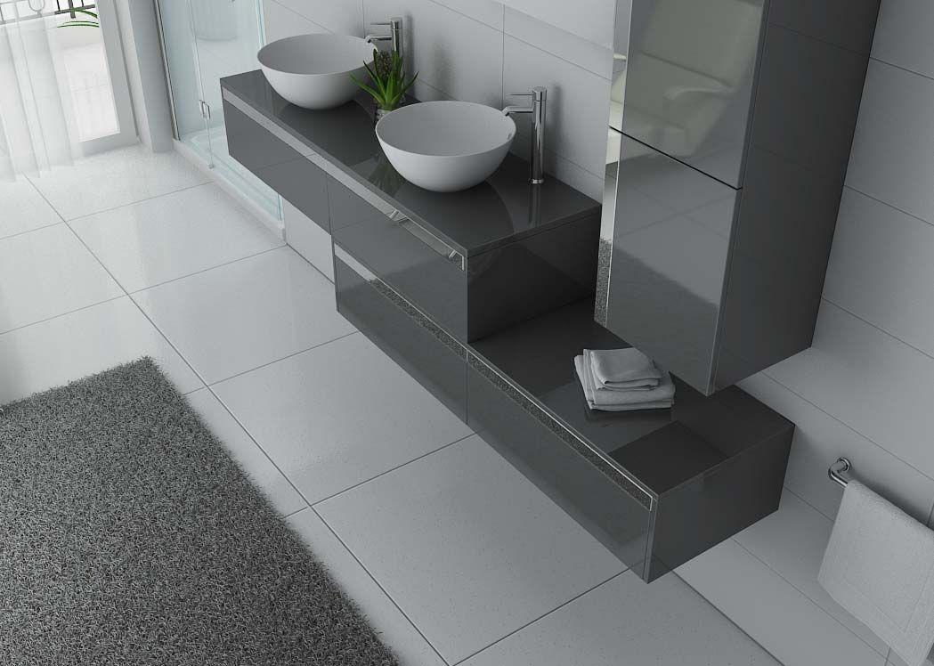 meuble double vasque gris taupe meuble vasque gris dolce vita gt distribain. Black Bedroom Furniture Sets. Home Design Ideas