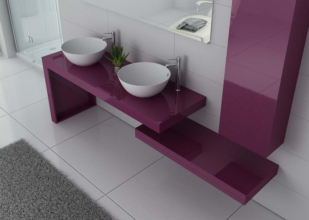 Mobilier de salle de bain aubergine de conception for Meuble vasque solde