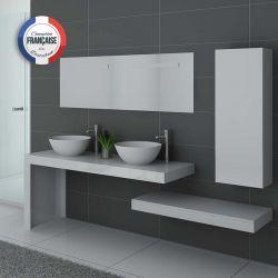 Meuble de salle de bain double vasque Monza Duo Blanc