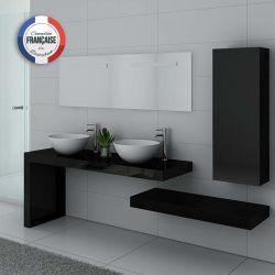Meuble de salle de bain double vasque Monza Duo Noir