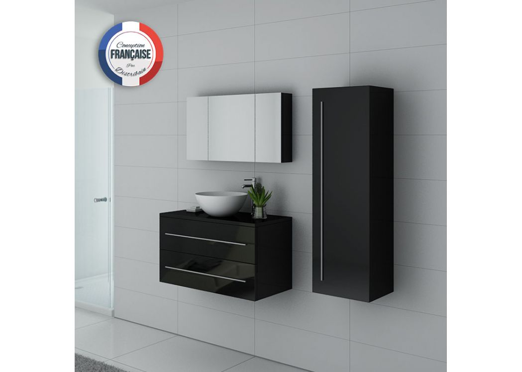 Meubles de salle de bain simple vasque 90 cm meuble for Meuble vasque simple