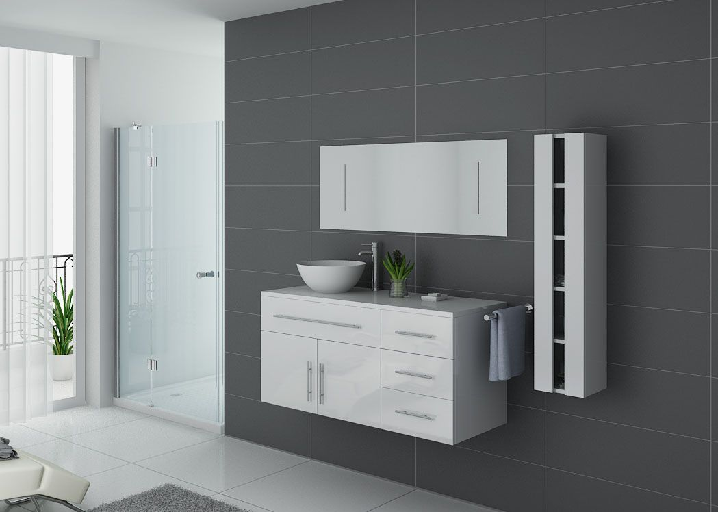 meuble salle de bain simple vasque arezzo blanc meuble de salle de bain distribain. Black Bedroom Furniture Sets. Home Design Ideas