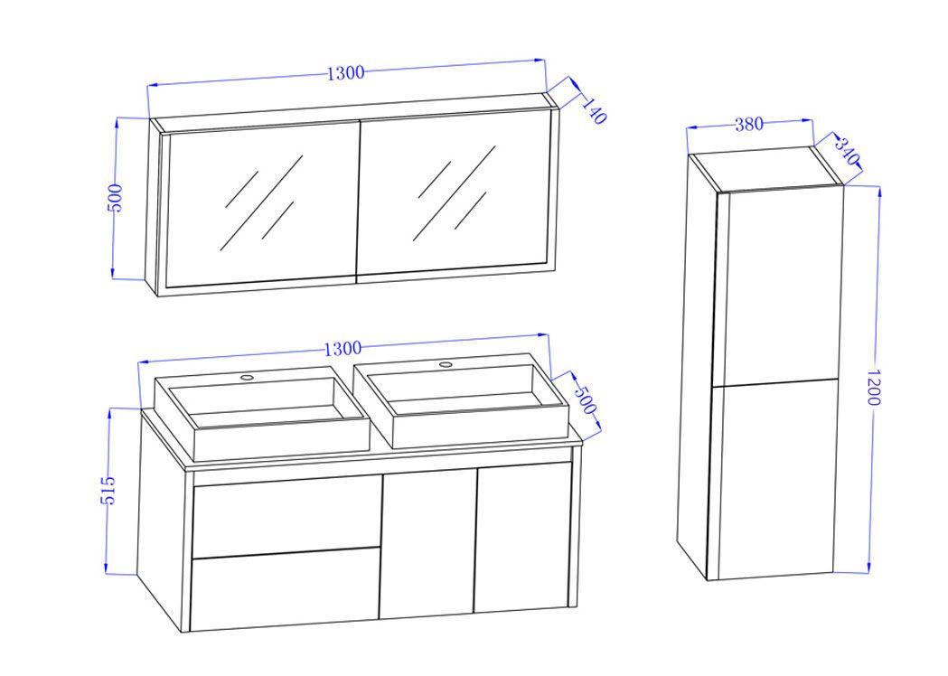 meuble de salle de bain deux vasques dis026 1300sc meuble double vasque petite largeur. Black Bedroom Furniture Sets. Home Design Ideas