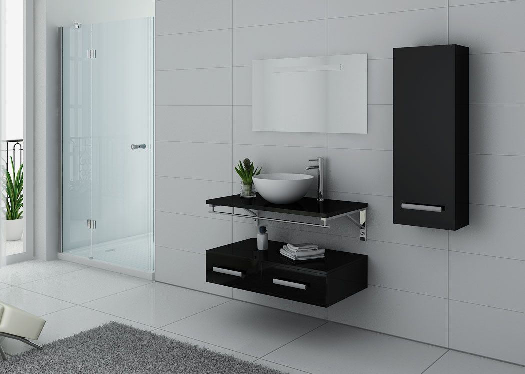 meuble de salle de bain contemporain 1 vasque virtuose. Black Bedroom Furniture Sets. Home Design Ideas