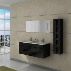 Meuble double vasque DIS980 Noir