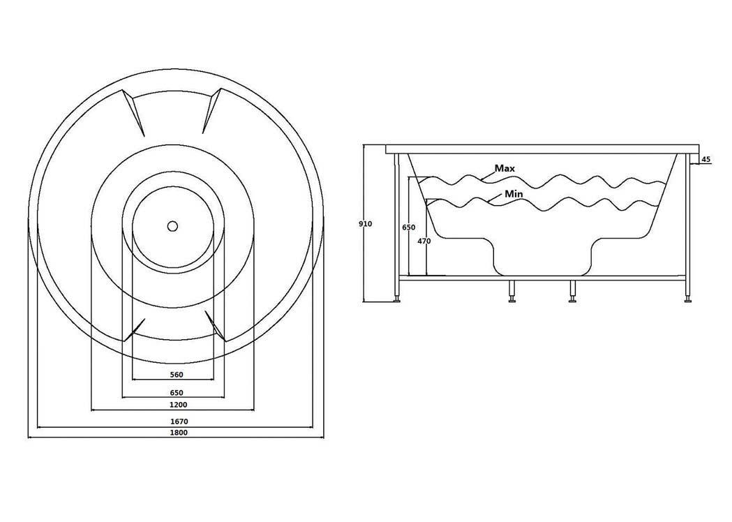 dimension baignoire balno trendy baignoire balneo petite. Black Bedroom Furniture Sets. Home Design Ideas
