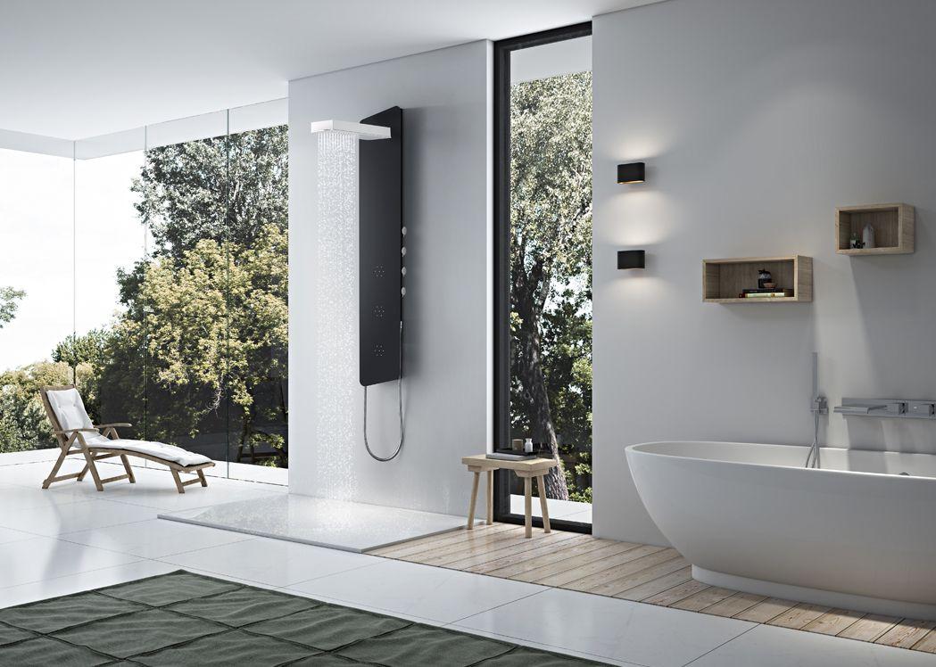 colonne hydromassante a210 colonne d 39 hydromassage design. Black Bedroom Furniture Sets. Home Design Ideas