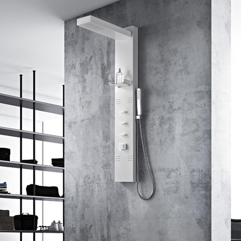 colonne de douche blanche design a212 colonne de douche. Black Bedroom Furniture Sets. Home Design Ideas