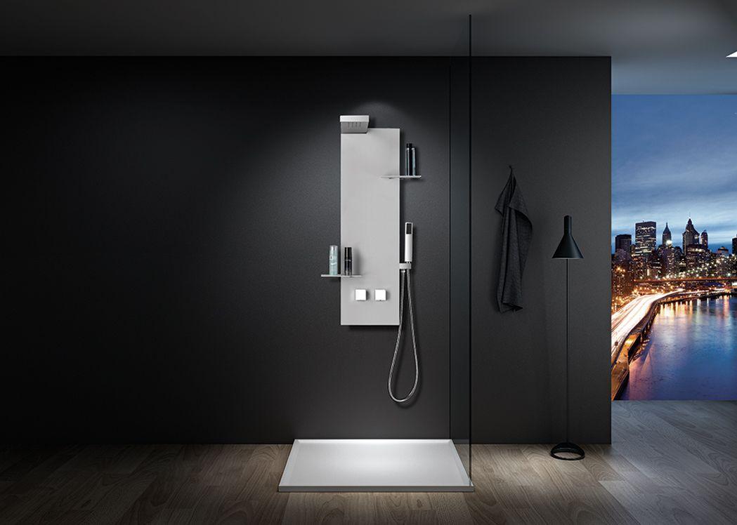 colonne de douche s050w colonne de douche simple et design. Black Bedroom Furniture Sets. Home Design Ideas