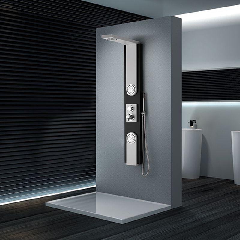 colonne de douche blanche et noire a053 colonne de douche. Black Bedroom Furniture Sets. Home Design Ideas