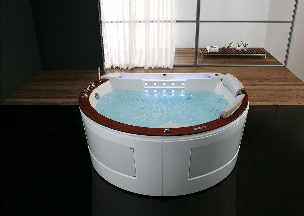 baignoire demi lune baln o deux places santorin baignoire demi lune 29 jets distribain. Black Bedroom Furniture Sets. Home Design Ideas