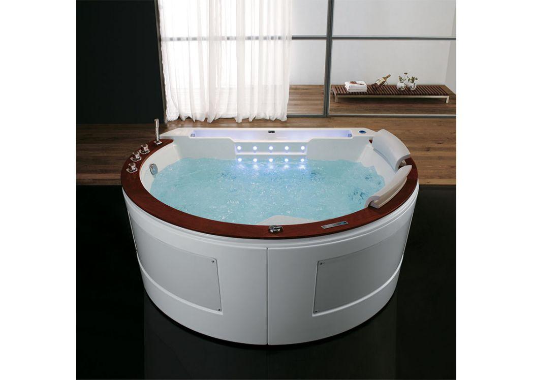baignoire demi lune baln o deux places santorin baignoire. Black Bedroom Furniture Sets. Home Design Ideas