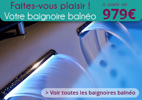 Baignoire Balneo De Luxe Dangle Rectangulaire Asymétrique