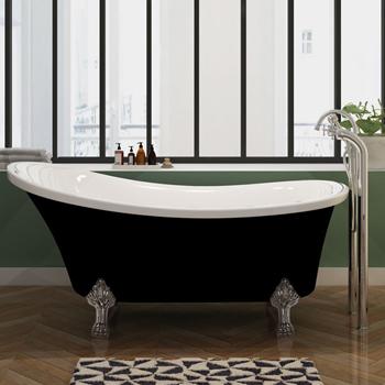 Le Style De Cette Baignoire Est Souligné Par Sa Belle Cuve Double Paroi  Bicolore Isolante Très Pratique Permettant De Prolonger Votre Bain.
